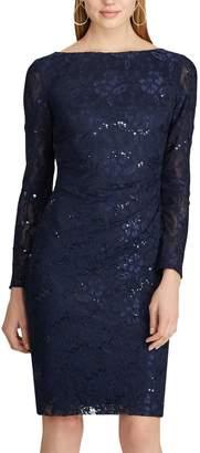 Chaps Women's Sequin Lace Sheath Dress