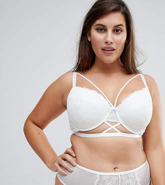 Asos BRIDAL Becca Strappy Lace Molded Bra