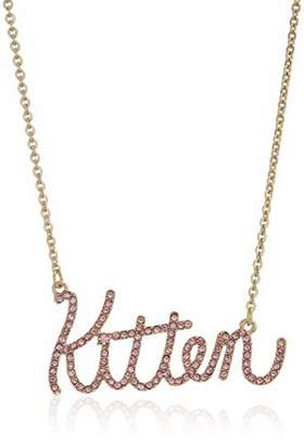 Betsey Johnson Women's Kitten Pendant Necklace