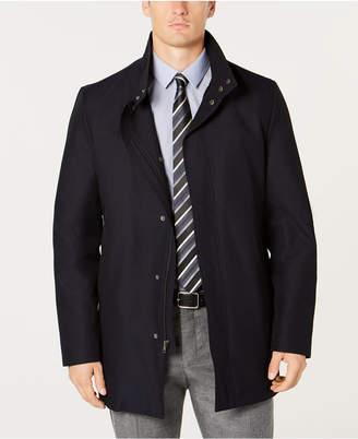 Kenneth Cole New York Men's Cob Modern-Fit Navy Raincoat
