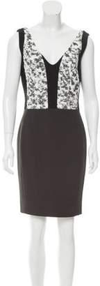 Narciso Rodriguez V-Neck Jacquard Dress