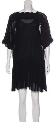 Etoile Isabel Marant Sheer Embroidered Dress