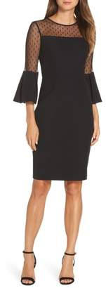 Eliza J Point d'Esprit Sheath Dress