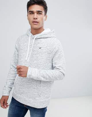 Hollister Icon Logo Hoodie in Gray