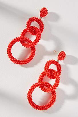 Anthropologie Lyla Beaded Drop Earrings