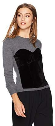 Milly Women's Velvet Corsetry Sweater