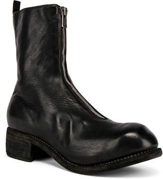 Guidi Full Grain Horse Front Zip Boot in Black | FWRD