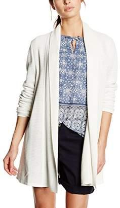Basler Women's White Edge to Edge Cardigan Plain Long Sleeve Cardigan,(Manufacturer Size:40)