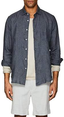 Hartford Men's Washed Linen Shirt - Charcoal