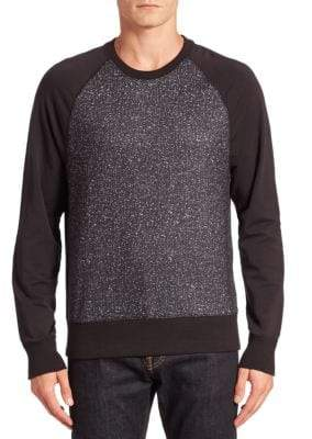 Saks Fifth Avenue Modern Abstract Raglan Sweatshirt
