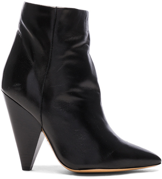 Isabel Marant Leather Leydoni Booties $940 thestylecure.com