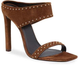 453a9f76e9b Saint Laurent Covered Heels Women's Sandals - ShopStyle