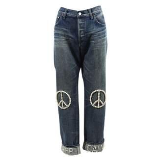 Tu Es Mon Trésor Tu Es Mon Tresor Blue Cotton Trousers