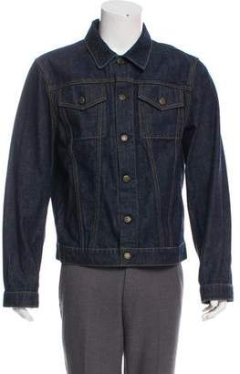 Helmut Lang Re-Edition Classic Two-Pocket Denim Jacket With Stripes