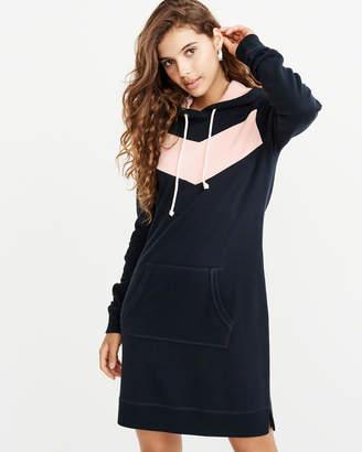Abercrombie & Fitch Graphic Sweatshirt Hoodie Dress