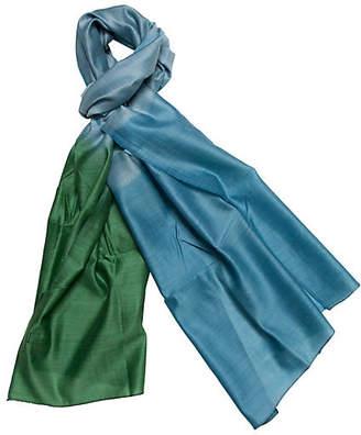 A & R Cashmere A&R Cashmere Silk & Merino Wool Wrap - Emerald - a&R Cashmere