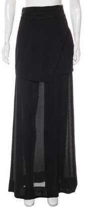 Nicholas Crepe Double-Layer Skirt