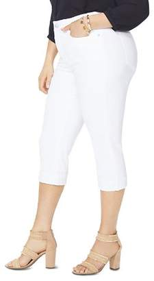 NYDJ Plus Marilyn Cropped Jeans in Optic White