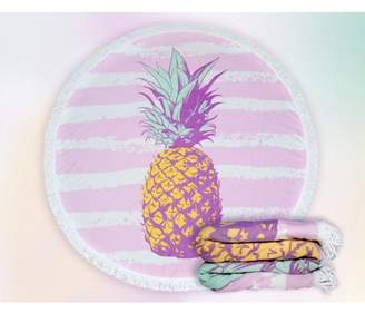 Urban Nomads Round Large Beach Towel 100% Turkish Cotton with Tassels (Pineapple)