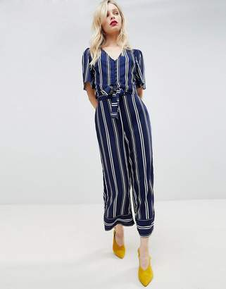 New Look Stripe Wide Leg Crop PANTS Two-Piece