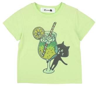にゃー / S キッズ からふるドリンクにゃー T / Tシャツ