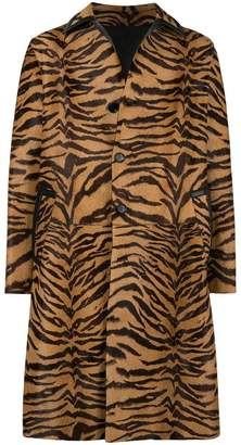 Versace tiger striped coat