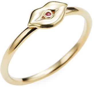 Sydney Evan Gold Lips Ring