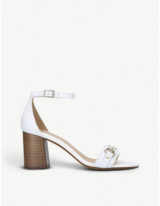 Carvela Kast leather stacked heel sandals