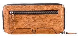 3.1 Phillip Lim Metallic Zip Around Wallet