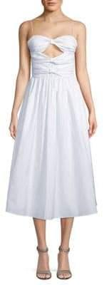 Valentino Striped Cotton Midi Dress