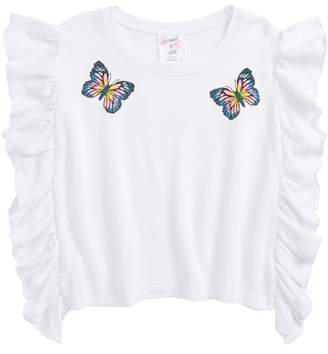 Flowers by Zoe Butterfly Ruffle Sweatshirt (Little Girls & Big Girls)