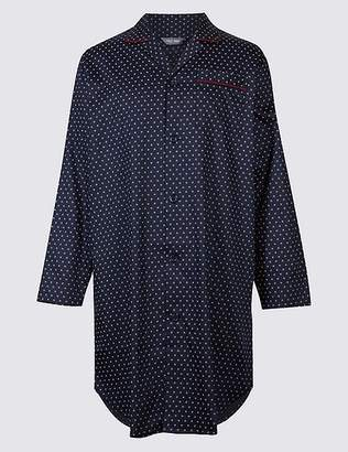 Marks and Spencer Pure Cotton Printed Nightshirt
