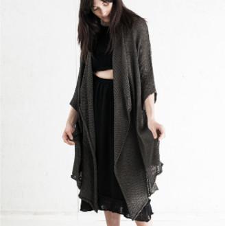 Morph Knitwear - Bamboo Robe Grey Hand Knitted - XL - Grey