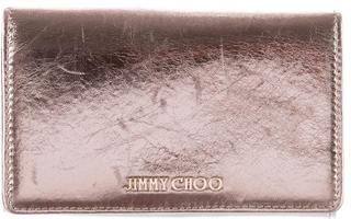 Jimmy ChooJimmy Choo Metallic Leather Wallet