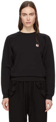 MAISON KITSUNÉ Black Fox Head Patch Sweatshirt