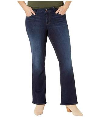 Silver Jeans Co. Plus Size Suki Mid-Rise Curvy Fit Slim Boot Jeans in Indigo W93616SSX426