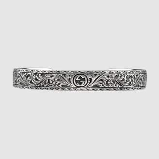Gucci Bracelet in silver with feline head