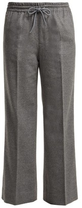 Undercover Straight Leg Cashmere Trousers - Womens - Light Grey