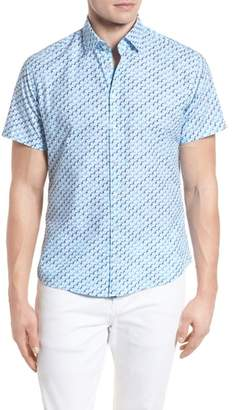 Stone Rose Contemporary Fit Toucan Print Sport Shirt