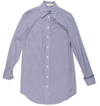 Michael Kors Woven Check French Cuff Shirt