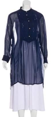 Etoile Isabel Marant Striped Semi-Sheer Dress