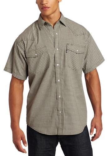 Key Industries Men's Big-Tall Western Snap Short Sleeve Wrinkle Resist Shirt