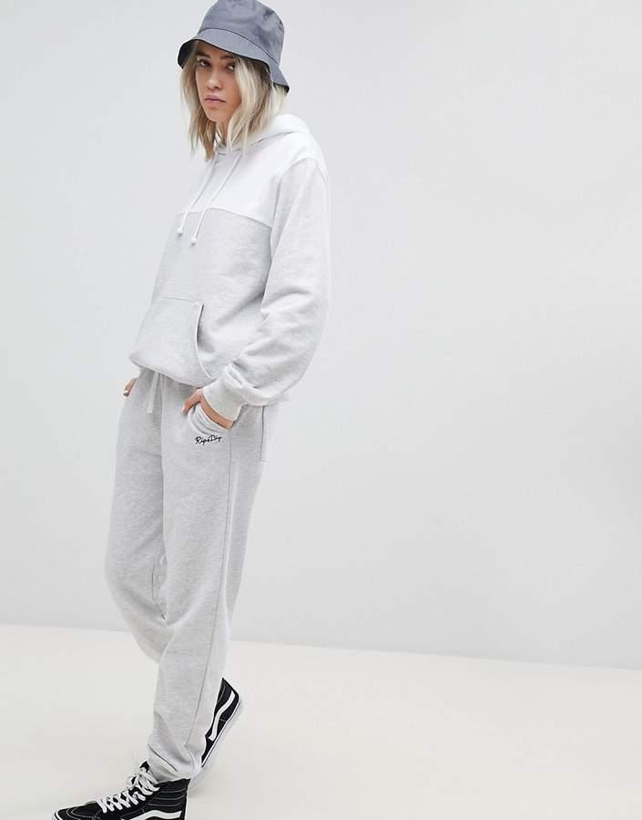Rip N Dip RIPNDIP – Jogginghose mit Bündchen, aufgesticktem Logo und bedruckter Tasche – Kombiteil