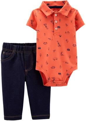 Carter's Baby Boy Polo Bodysuit & Jeggings Set