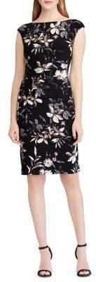 Lauren Ralph Lauren Floral Cap-Sleeve Jersey Dress