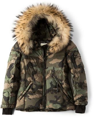 SAM. Camo Blake Jacket with Asiatic Raccoon Fur $395 thestylecure.com