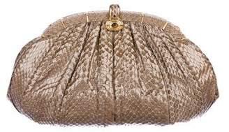 Judith Leiber Python Frame Shoulder Bag