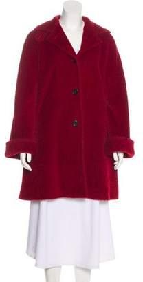 Max Mara Textured Knee-Length Coat