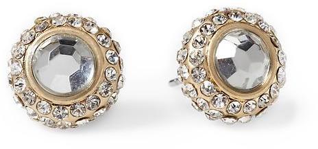 Sabine Round Crystal Pavé Stud Earring