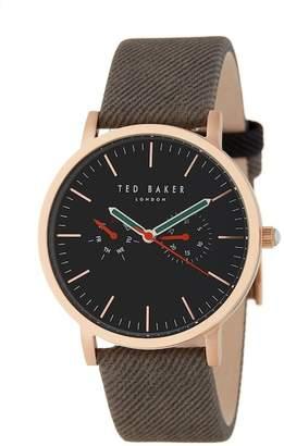 Ted Baker Men's Textured Canvas Watch, 40mm